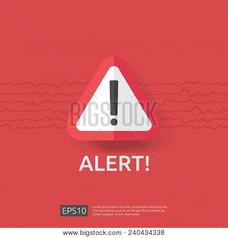 Warning Alert Sign With Triangle Exclamation Mark Symbol. Hazard Disaster Attention Protection Icon