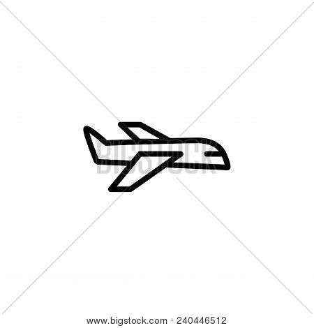 Icon Of Passenger Plane. Airport, Airline, Jetliner. Transportation Concept. Can Be Used For Topics