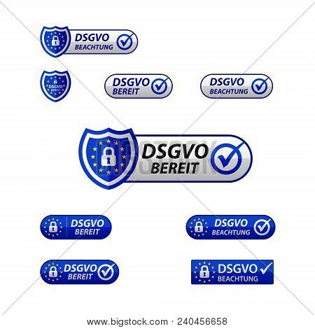 Dsgvo General Data Protection Regulation  Notification Web Button