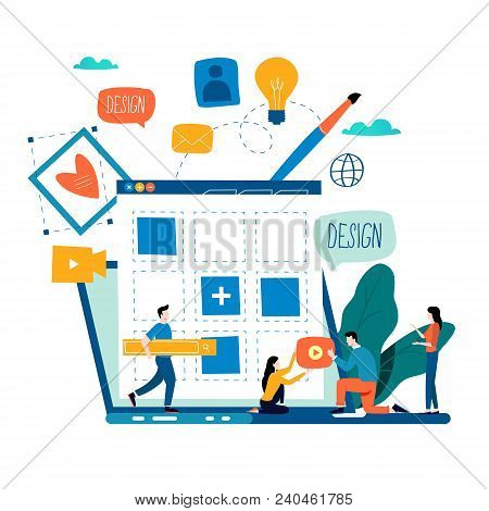 Website Development, Website Construction, Web Page Building Process, Website Layout And Interface D