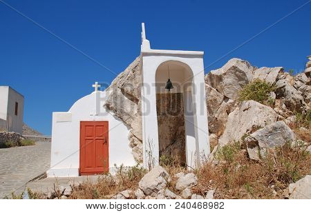 A small chapel on the Tarpon Springs Boulevard near Chorio on the Greek island of Halki.