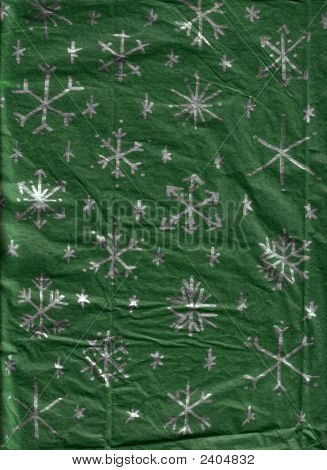 Handmade Snowflake Wrapping-Paper
