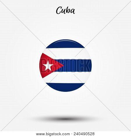 Flag Of Cuba Icon. Vector Illustration. World Flag