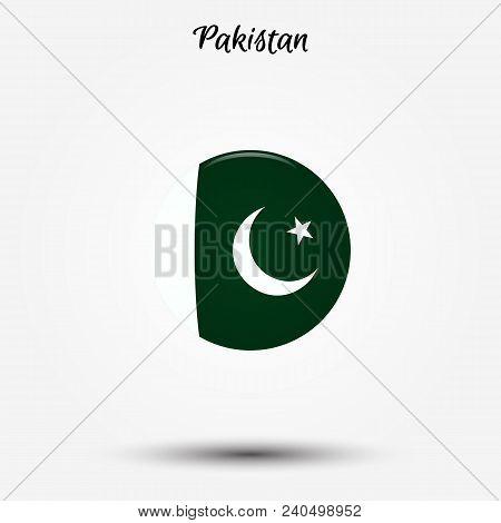Flag Of Pakistan Icon. Vector Illustration. World Flag