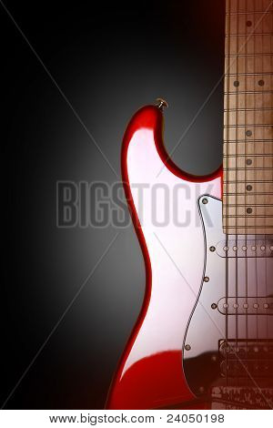 Electric guitar isolated