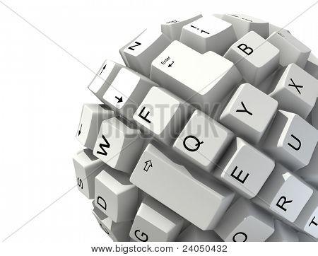 abstract keyboard ball
