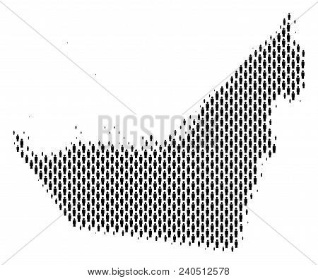 Demography Arab Emirates Map People. Population Vector Cartography Mosaic Of Arab Emirates Map Organ