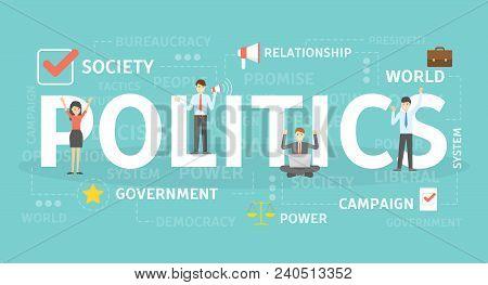 Politics Concept Illustration. Idea Of Political Institution.
