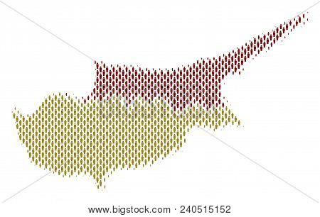 Demography Cyprus Countries Map People. Population Vector Cartography Concept Of Cyprus Countries Ma