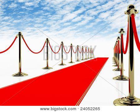 Red carpet. 3D image.