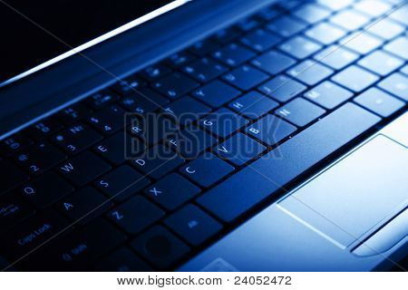 Abstract close-up laptop