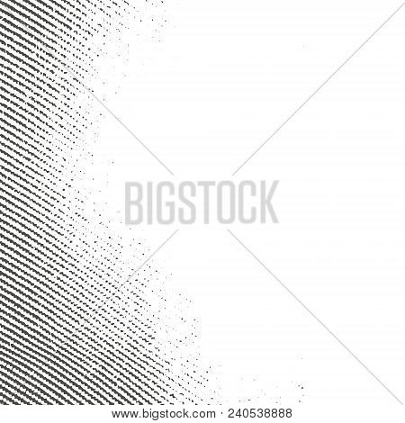 Textile Grunge Dradient Texture In Black And White. Textured Background. Vector Template.  Linen Vec