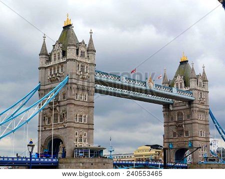 Architecture At Its Finest. Tower Bridge In London, England.