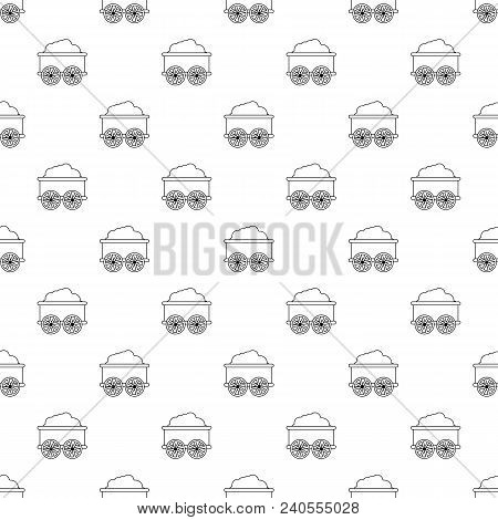 Train Wagon Pattern Vector Seamless Repeating For Any Web Design