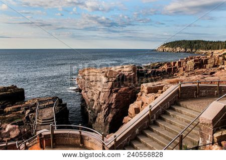 ACADIA NP - JULY 12: Scenic view near Thunder Hole in Acadia National Park, Maine seein July, 12, 2013.