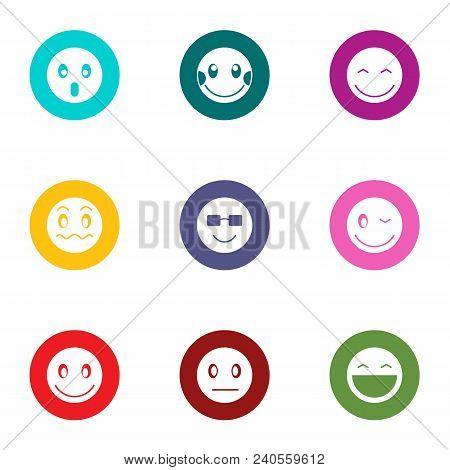 Feeling Icons Set. Flat Set Of 9 Feeling Vector Icons For Web Isolated On White Background