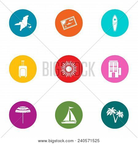 Recipient Country Icons Set. Flat Set Of 9 Recipient Country Vector Icons For Web Isolated On White