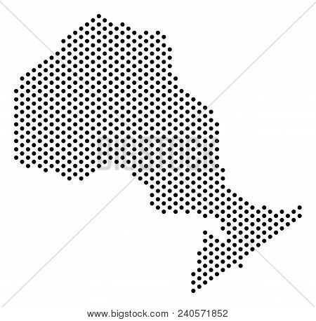 Pixel Ontario Province Map. Vector Territory Scheme. Cartographic Pattern Of Ontario Province Map Co