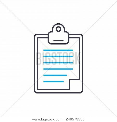 Daily Report Vector Thin Line Stroke Icon. Daily Report Outline Illustration, Linear Sign, Symbol Is