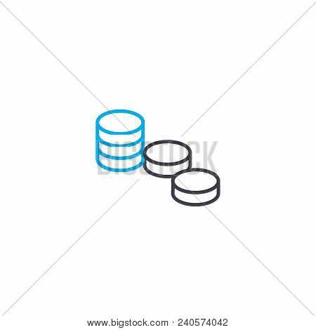 Distribution Of Funds Vector Thin Line Stroke Icon. Distribution Of Funds Outline Illustration, Line