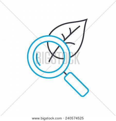 Ecology Research  Vector Thin Line Stroke Icon. Ecology Research  Outline Illustration, Linear Sign,