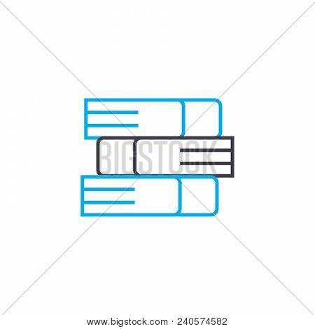 Educational Literature Vector Thin Line Stroke Icon. Educational Literature Outline Illustration, Li