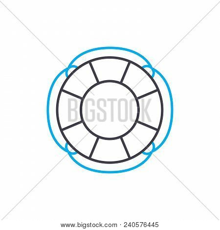 Flood Insurance Vector Thin Line Stroke Icon. Flood Insurance Outline Illustration, Linear Sign, Sym
