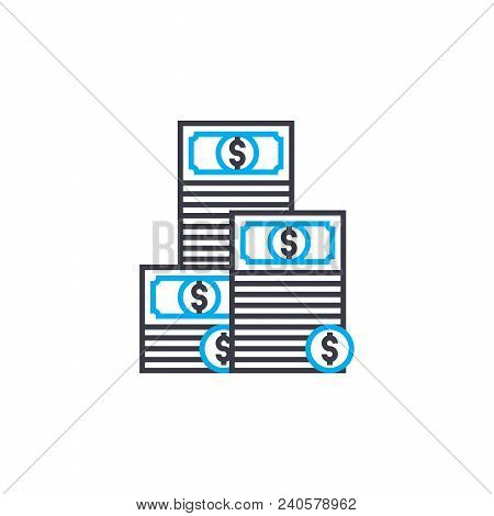 Income Levels Vector Thin Line Stroke Icon. Income Levels Outline Illustration, Linear Sign, Symbol