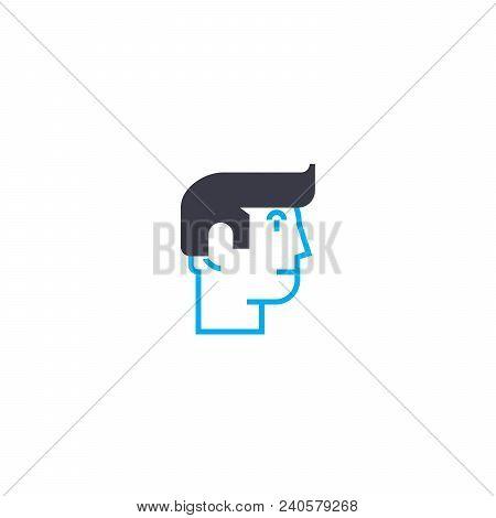 Individual Vision Vector Thin Line Stroke Icon. Individual Vision Outline Illustration, Linear Sign,