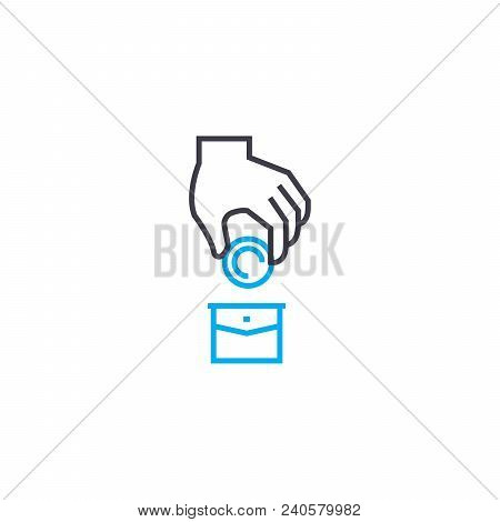 Investment Portfolio Vector Thin Line Stroke Icon. Investment Portfolio Outline Illustration, Linear