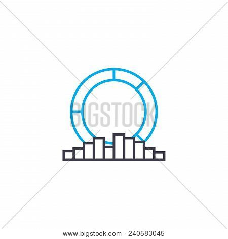 Multilateral Analysis Vector Thin Line Stroke Icon. Multilateral Analysis Outline Illustration, Line