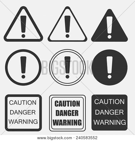 Exclamation Danger Vector Photo Free Trial Bigstock