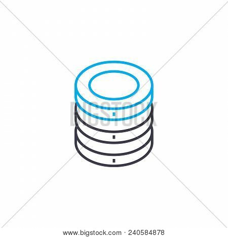 Rate Of Return Vector Thin Line Stroke Icon. Rate Of Return Outline Illustration, Linear Sign, Symbo