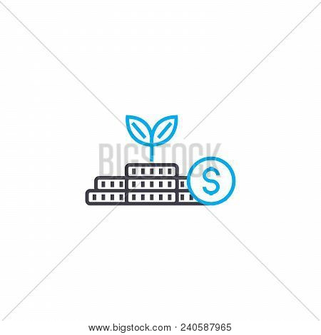 Startup Of Business Vector Thin Line Stroke Icon. Startup Of Business Outline Illustration, Linear S