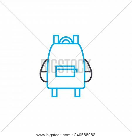 Stock Of Knowledge Vector Thin Line Stroke Icon. Stock Of Knowledge Outline Illustration, Linear Sig