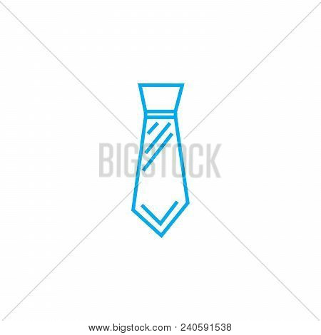 Wide Tie Vector Thin Line Stroke Icon. Wide Tie Outline Illustration, Linear Sign, Symbol Isolated C