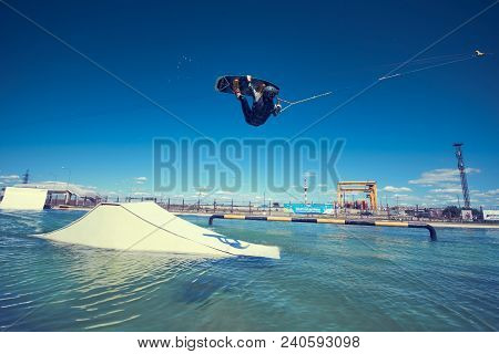 Saint-petersburg, Russia, June 04 2016: Summertine, Watersports, Activity And Vacation Concept. Outo