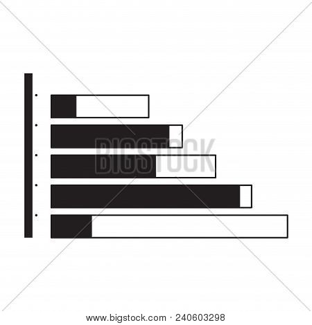 Isolated Business Graph On White Background, Vector Illustration Design