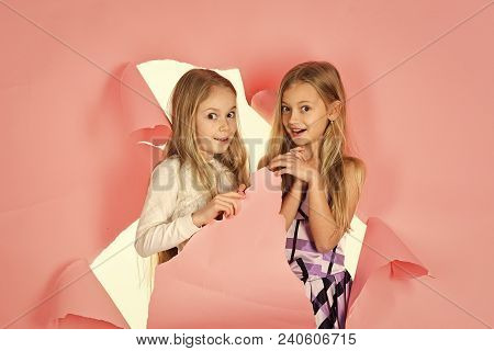 Friendship, Look, Hairdresser, Wedding. Family Fashion Model Sisters, Beauty. Little Girls In Fashio
