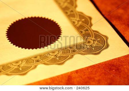 Selo de certificado