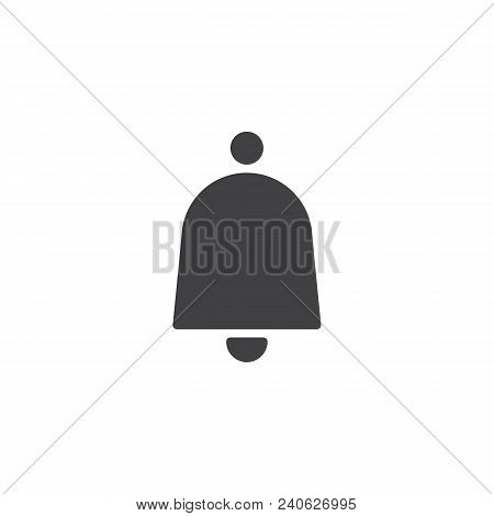 Notification Bell Vector Icon. Filled Flat Sign For Mobile Concept And Web Design. Door Ringing Bell