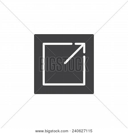 Export Vector Icon. Filled Flat Sign For Mobile Concept And Web Design. Expand Maximize Simple Solid