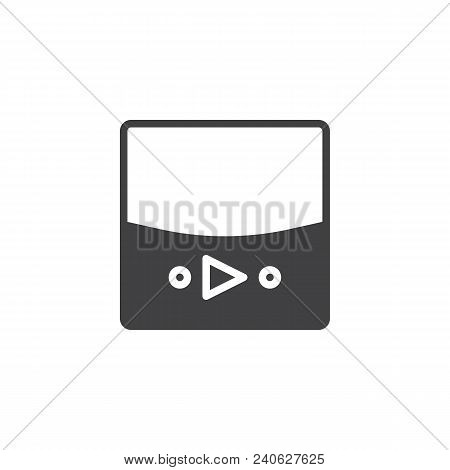 Video Player Vector Icon. Filled Flat Sign For Mobile Concept And Web Design. Music Player Simple So