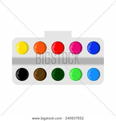 Watercolor Palette Board Vector Illustration Graphic Design