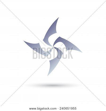 Windmill Blade Vector Logo Design Template, Wave Icon, Spiral Sign, Twist Symbol, Vector Illustratio