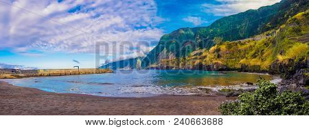 Beautiful Panorama Of Cais Do Seixal Beach In Madeira Island, Portugal