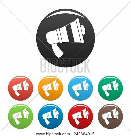 Megaphone Icon. Simple Illustration Of Megaphone Vector Icons Set Color Isolated On White
