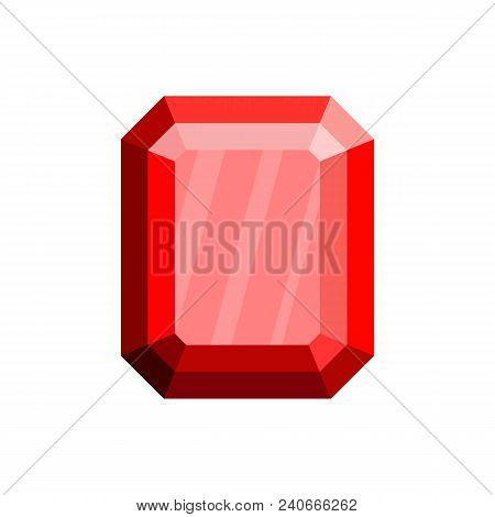 Pure Diamond Icon. Flat Illustration Of Pure Diamond Vector Icon For Web.