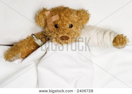 Teddy Bear As A Patient