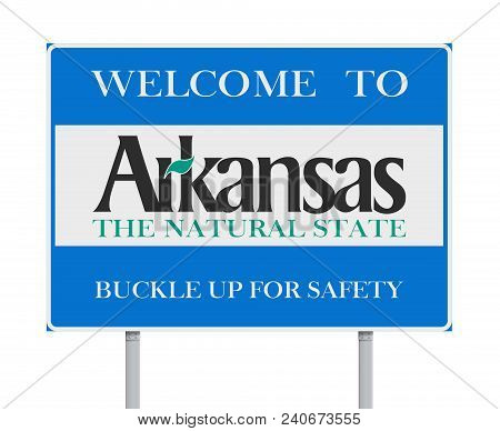 Vector Illustration Of The Welcome To Arkansas